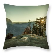Sunrise Glacier Point Throw Pillow