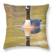 Sunrise Goose Throw Pillow