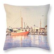 Sunrise Harbor Throw Pillow