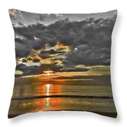 Sunrise-hdr-bw With A Touch Of Color Throw Pillow