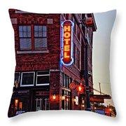 Sunrise Hotel Throw Pillow