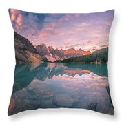 Sunrise Hour At Banff Throw Pillow