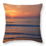 Sunrise Huntington Island State Park Throw Pillow