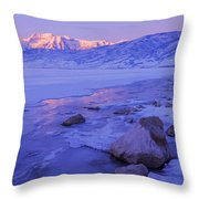 Sunrise Ice Reflection Throw Pillow