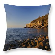 Sunrise In Acadia Throw Pillow