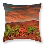 Sunrise In Capitol Reef National Park Utah Throw Pillow