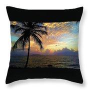Sunrise In Fajardo, Puerto Rico Throw Pillow