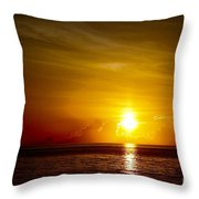 Sunrise In Florida / C Throw Pillow