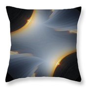 Sunrise In Fractal Throw Pillow