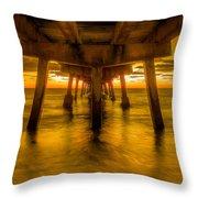 Sunrise In Ft Lauderdale Pier Throw Pillow