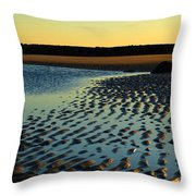 Sunrise In Gold Throw Pillow