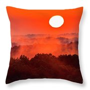 Sunrise In Hocking State Forest Throw Pillow