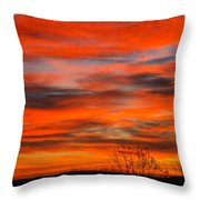 Sunrise In Ithaca Throw Pillow