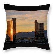 Sunrise In Las Vegas Throw Pillow