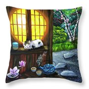 Sunrise In Moon Window Throw Pillow