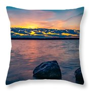 Sunrise In Motion Throw Pillow