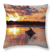 Sunrise In Murrells Inlet, Sc Throw Pillow