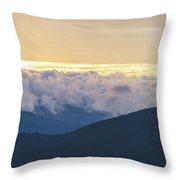 Sunrise In North Georgia Mountains 2 Throw Pillow