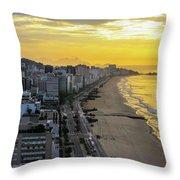 Sunrise In Rio De Janeiro Throw Pillow