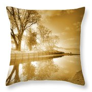 Sunrise In Sepia Throw Pillow