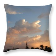 Sunrise In Sosua, Dr Throw Pillow
