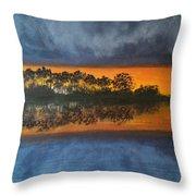 Sunrise In The Amazonas Throw Pillow