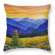Sunrise In The Mountains Throw Pillow