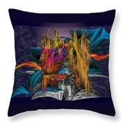 Sunrise In The New City Throw Pillow
