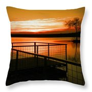 Sunrise In The Park Throw Pillow