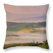 Sunrise In The Tuscany Throw Pillow