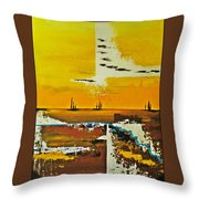 Sunrise In The West Throw Pillow