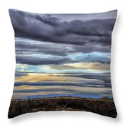 Sunrise In The Western Sky  Throw Pillow