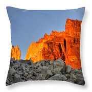 Sunrise In Torres Del Paine Throw Pillow