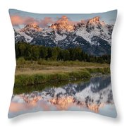 Sunrise In Wyoming Throw Pillow