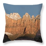 Sunrise In Zion National Park  Throw Pillow
