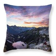 Sunrise Into The Lake Throw Pillow