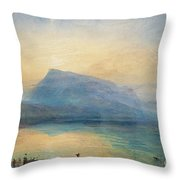 Sunrise Throw Pillow by Joseph Mallord William Turner