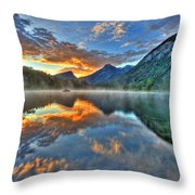 Sunrise Lake Throw Pillow