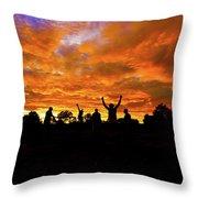 Sunrise Landscape In Tanzania Throw Pillow