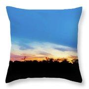 Sunrise Landscape In Zambia Throw Pillow