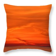 Sunrise Layers  Throw Pillow