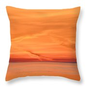 Sunrise Layers Two  Throw Pillow