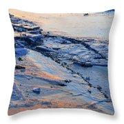 Sunrise Light On The Ice  Throw Pillow