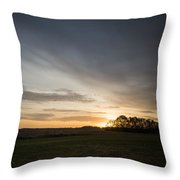 Sunrise More Color Throw Pillow