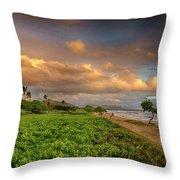 Sunrise Nukolii Beach Kauai Hawaii 7r2_dsc4068_01082018 Throw Pillow
