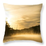 Sunrise Of Fire Throw Pillow