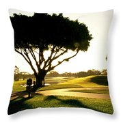 Sunrise On A Golf Course Throw Pillow