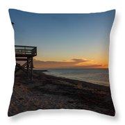 Sunrise On Beach Road, Falmouth Throw Pillow