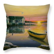 Sunrise On Blue Rocks 2 Throw Pillow