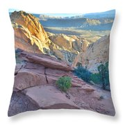 Sunrise On Burr Trail Switchbacks Throw Pillow